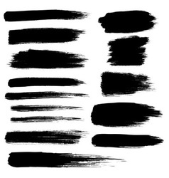 zen brush stroke set vector image