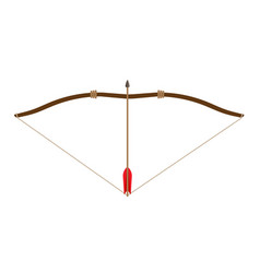 bow arrow icon archery isolated symbol weapon vector image