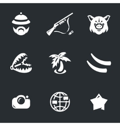 Icons Set of Safari vector image