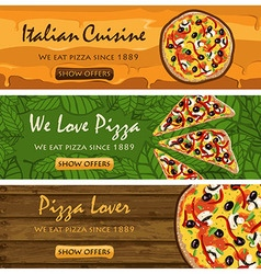 Pizza banners set vector image vector image