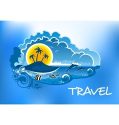 Travel poster design vector image