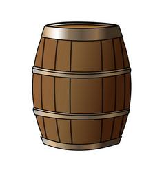 wooden barrel icon image vector image