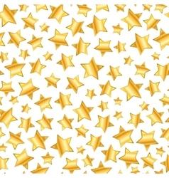 golden stars on white seamless pattern vector image