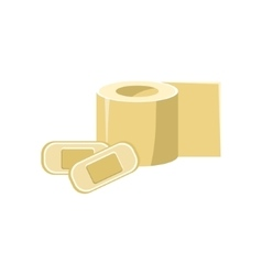 Toilet Paper And Band-aids Simplified Icon vector image vector image