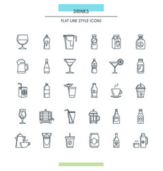 website design thin icons vector image vector image