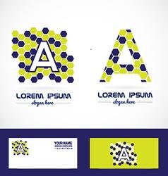Letter a polygon bubble logo vector image vector image