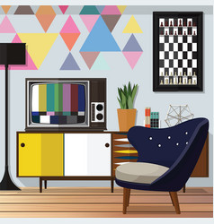 living room decorating ideas vector image