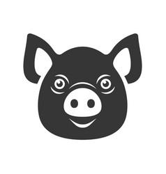 pig icon dark logo on white background vector image vector image