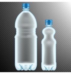 Plastic bottles Transparent EPS 10 vector image