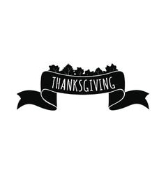 Ribbon thanksgiving icon vector image vector image
