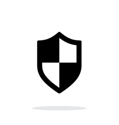 Shield icon on white background vector image vector image