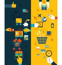 Shopping Banners Concept vector image