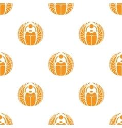 simple orange scarab seamless pattern vector image