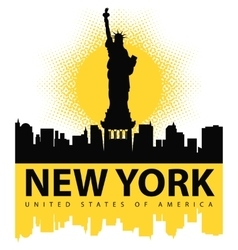 Statue of Liberty on the background of New York vector image vector image