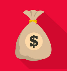 bag money icon flat style vector image