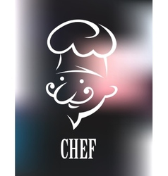 Chef icon on a shiny surface vector image vector image