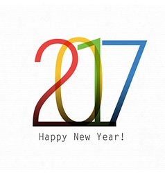 Happy New Year 2017 On white paper Design element vector image vector image