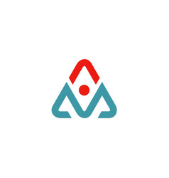 letter a triangle abstract logo vector image vector image