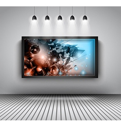 Modern interior art gallery frame design with vector image vector image
