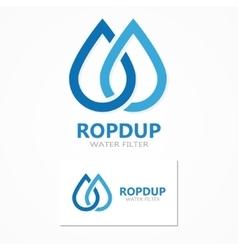 water drop logo vector image