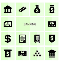 14 banking icons vector