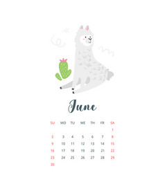 2019 year monthly calendar vector image