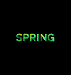 3d gradient spring season sign vector image