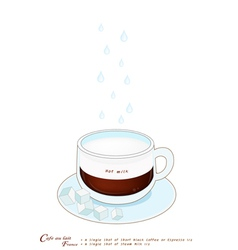 A Cup of Cafe au Lait or French Pressed Coffee vector