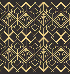 abstract art deco seamless modern tiles pattern vector image