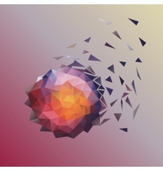 Abstract low poly design vector image