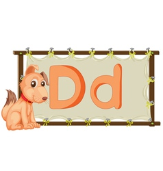 alphabet letter on a canvas vector image