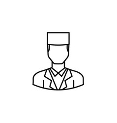 avatar doctor outline icon signs and symbols can vector image