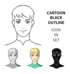 avatar men with white hairavatar and face single vector image
