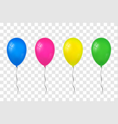 balloons 3d set thread isolated white vector image