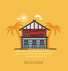 bar at sea beach or hut for alcohol at seashore vector image