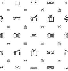 Barrier icons pattern seamless white background vector