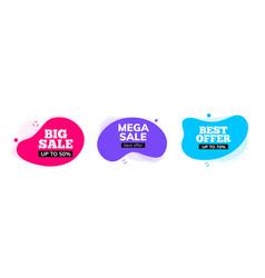 big sale banner element promo discount shape vector image