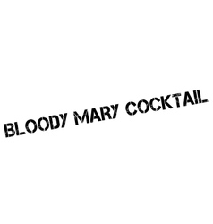 Bloody Mary Cocktail rubber stamp vector