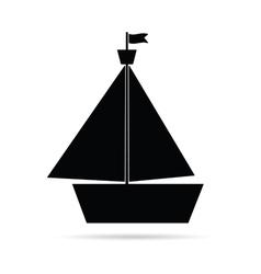 Boat icon in black vector