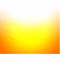 brightly yellow low poly background vector image