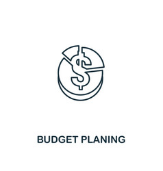 budget planing icon thin line style symbol from vector image