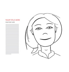 Business Woman with Sample Text vector image