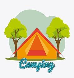 Camping travel and vacations vector image