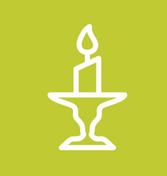 Candle on stand vector