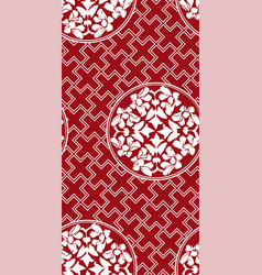 chinese geometry seamless pattern oriental red vector image