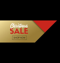 Christmas sale banner facebook link template vector