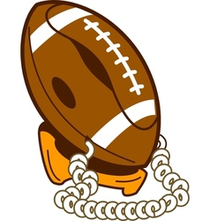 Classic football phone vector