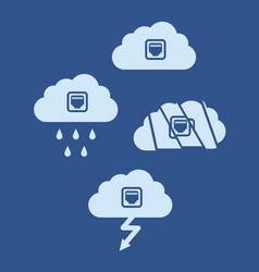 cloud technology computing concept flat design vector image
