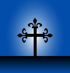 Cross with light vector image