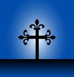 Cross with light vector